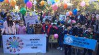 İlkokul öğrencileri, dünya çocuk hakları gününde bir araya geldi…