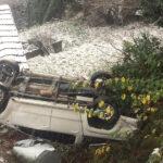 Feci kaza… Otomobil çatıya uçtu… 1'i çocuk 3 yaralı…